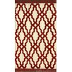nuLOOM Brilliance Red Elegant Trellis with Fringe Area Rug