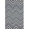 <strong>Flatweave Navy Blue Retro Chevron Rug</strong> by nuLOOM