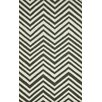 nuLOOM Flatweave Grey Retro Chevron Area Rug