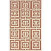 nuLOOM Flatweave Red Locking Area Rug
