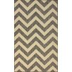 nuLOOM Villa Outdoor Grey Chevron Rug