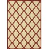 nuLOOM Villa Red Trellis Indoor/Outdoor Area Rug