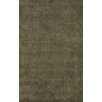 nuLOOM Goodwin Olive Solid Plush Area Rug