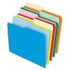 Pendaflex® Stretch Tab File Folders, Letter, Assorted, 100/Box
