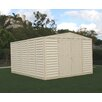 """<strong>WoodBridge 10'5"""" W x 10'5"""" D Vinyl Storage Shed</strong> by Duramax Building Products"""