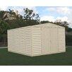 "Duramax Building Products WoodBridge 10'5"" W x 13' D Vinyl Storage Shed"
