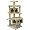 "<strong>Go Pet Club</strong> 60"" Cat Tree and Scratcher Post"