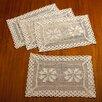 Violet Linen Stars Crochet Vintage Design Place Mat (Set of 4)