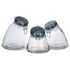 <strong>Global Amici</strong> Slope 3 Piece Jar with Stainless Steel Lid (Set of 3)