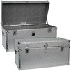 <strong>Seward Trunk</strong> Embossed Steel Storage Trunk with Locker