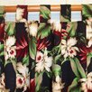 Hanalei Home Orchids Cotton Tab Top Curtain Panel