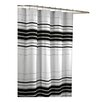 <strong>Maytex</strong> Racer Stripe Polyester Fabric Shower Curtain