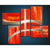 Acura Rugs Victory 5 Piece Original Painting on Canvas Set