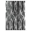 Acura Rugs Contempo Black/White Area Rug