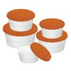 <strong>Imperial 5 Piece Silicon Lid Ceramic Food Container Set</strong> by Danico
