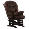 Dutailier Soft Microfiber Sleigh Multi Position Recline Glider and Ottoman