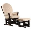 Dutailier Modern Glider with Rounded Cushion and Ottoman