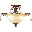 <strong>Artcraft Lighting</strong> Florence 3 Light Semi Flush Mount