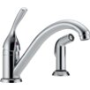 <strong>Delta</strong> Classic Side Spray 2-Hole Installation Kitchen Faucet with Diamond Seal Technology