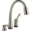 <strong>Delta</strong> Pilar Pull-Down Single Handle Widespread Kitchen Faucet with Touch Technology