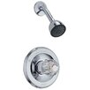 Delta Classic Pressure Balanced Lever Handle Diverter Shower Head with Shower Faucet Trim