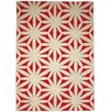 Gandia Blasco Hand Tufted Flower Red Floral Area Rug