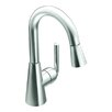 <strong>Ascent One Handle Single Hole High Arc Pull Down Bar Faucet</strong> by Moen