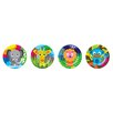 <strong>French Bull</strong> Jungle Kids Round Plates (Set of 4)