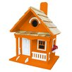 <strong>Birds Of A Feather Tangerine Cottage Birdhouse</strong> by Home Bazaar