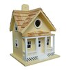 Home Bazaar Fledgling Series Beachside Cottage Mounted Birdhouse