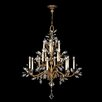 Crystal Laurel Gold 16 Light Chandelier