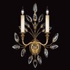 <strong>Fine Art Lamps</strong> Crystal Laurel Gold Two Light Wall Sconce