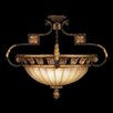 <strong>Fine Art Lamps</strong> Castile Three Light Semi-Flush Mount in Antique Gold Leaf