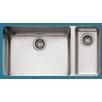 "Franke Kubus 33"" x 17.94"" Double Bowl Kitchen Sink"