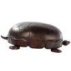 Lazzaro Leather Turtle Ottoman