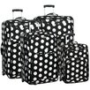 <strong>Overland Travelware</strong> Polka Dot 4 Piece Luggage Set