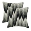 <strong>Chooty & Co</strong> Coram Ebony Fiber Pillow (Set of 2)