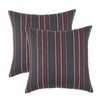 <strong>Multi Stripe Self Backed Fiber Pillow (Set of 2)</strong> by Chooty & Co