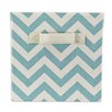 Chooty & Co Zig Zag Village Blue Storage Bin with Handle