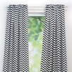 Zig Zag Rod Pocket Curtain Single Panel
