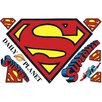 Room Mates Popular Characters Superman Logo Dry Erase Peel and Stick Giant Wall Decal