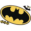 Room Mates Popular Characters Batman Logo Dry Erase Peel and Stick Giant Wall Decal