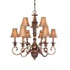 Salon Grand Nine Light Chandelier in Florence Patina