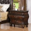 InRoom Designs 2 Drawer Nightstand