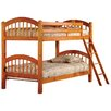 InRoom Designs Twin Arched Bunk Bed with Built-In Ladder