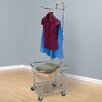 """Household Essentials Laundry Butler with 3"""" Wheels in Chrome"""