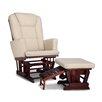 Graco Sterling Semi-Upholstered Nursing Glider and Ottoman