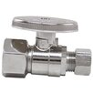 """<strong>0.5"""" x 0.375"""" Low Lead Quick Shutoff Straight Valve</strong> by Plumb Craft"""