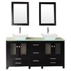 "Design Element Arlington 61"" Bathroom Vanity Set with Double Sink"