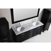 "Design Element London 72"" Double Sink Vanity Set with Side Cabinets"